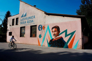 Btoy+Uriginal, Portrait of Nikola Tesla, Duga Resa, Croatia, 2012