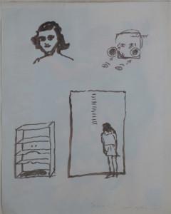 Miroslaw Balka, Anna F., 2000, acquarello su carta. Collezione Del Monte