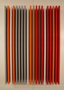 Liam Gillick, Reiteration Structure, 2008, alluminio dipinto. Courtesy collezione Banca Popolare di Bergamo