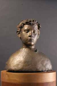 Giacomo Manzù, Ritratto di Pio, 1948 ca., scultura in bronzo. Courtesy collezione Banca Popolare di Bergamo