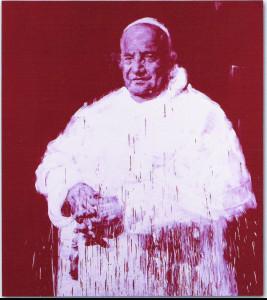 Yan Pei Ming, Papa Giovanni XXIII, 2005, olio su tela. Courtesy collezione Banca Popolare di Bergamo