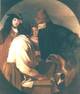 Giacomo Ceruti detto il Pitocchetto, Maschere e venditrice, tela. Courtesy collezione Credito Bergamasco