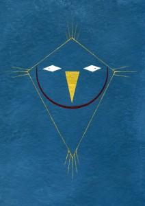 Luigi Presicce, Mago, 2014, acrilico su carta, 30,5 x 23 cm