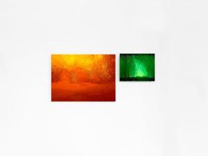 Daniele Maffeis, Fires, 2009, stampa inkjet su carta fotografica applicata su alluminio, 20x28 cm | 11x15 cm